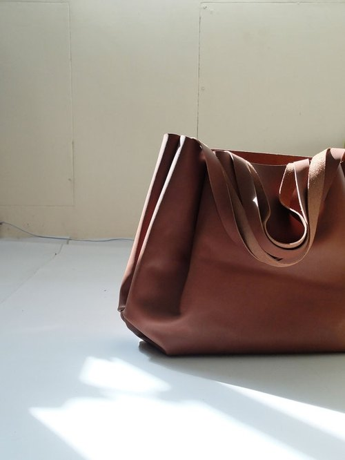HIDDENGEM brown brown soft leather shoulder bag