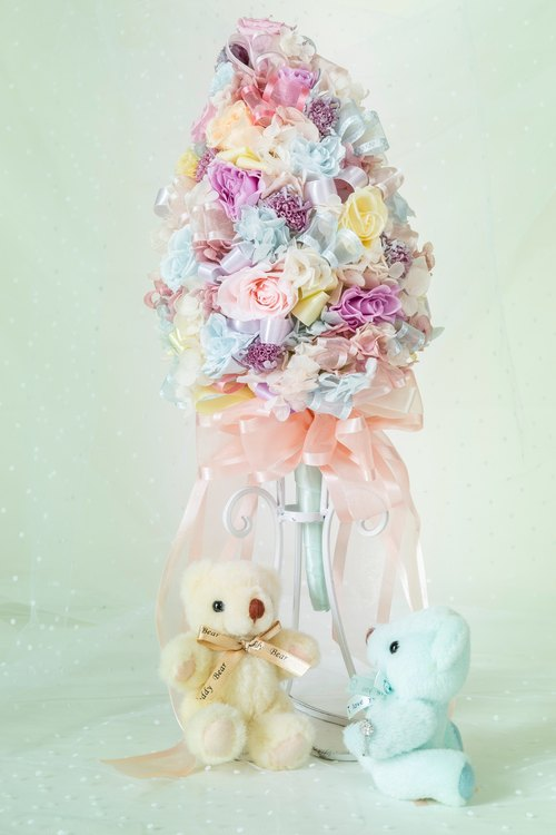 Kinki hand-made macarons sweetie advanced customization cone style bouquet wedding bouquet