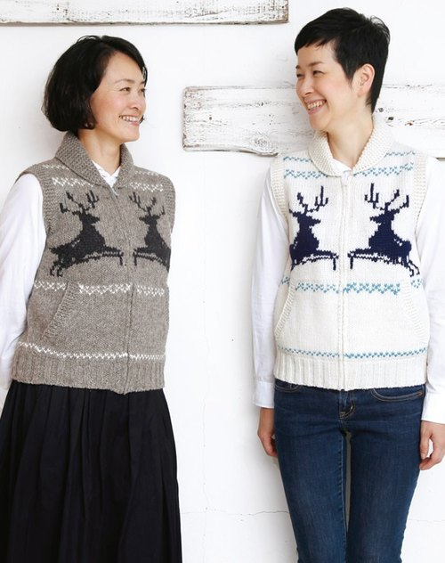 "Earth tree fair trade- ""Alpaca Series"" - BABY hand woven alpaca wool 15% + 85% vest elk female version (only gray)"