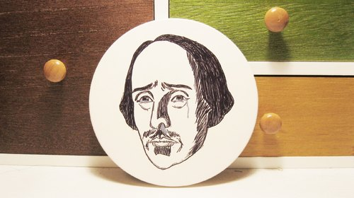 [Weeping] Mr. Shakespeare ceramic absorbent coasters (Limited Sold)