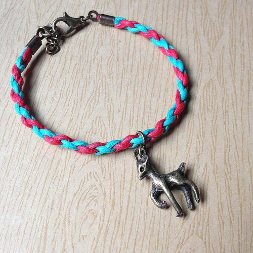 Alice beard small star - candmas deer ★ wax rope (cotton) bracelet