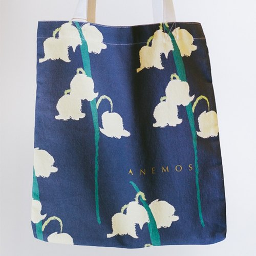 "Flora Series: ""Nocturne"" Cotton Canvas Bag"