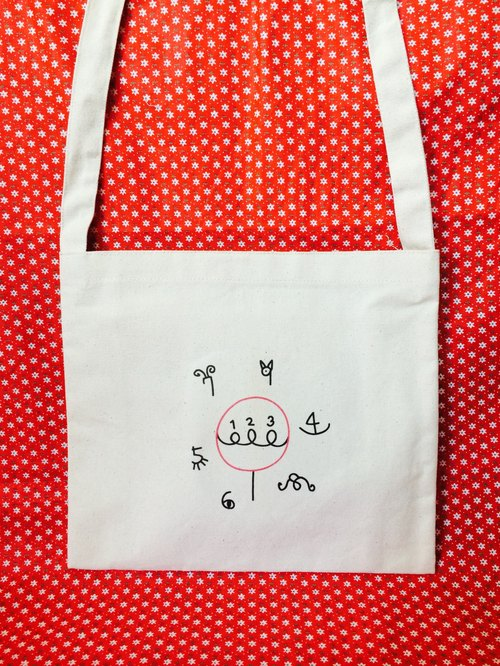 △ what can count to ten before △ shoulder / hatchback small canvas bag