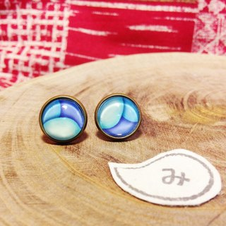 [ earrings] the secret of the island grandfather a total of six colors * can be clipped
