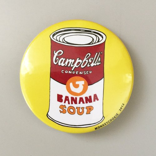 Magnet banana canned soup