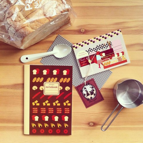 A5 size note book designs bread and A6.