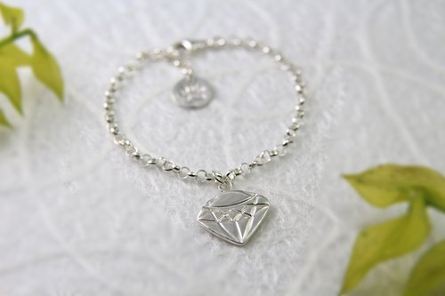 <Engraving Accepted> Sterling Silver Bracelet / Diamond