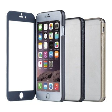 SIMPLE WEAR iPhone 6 Plus special LUCID glass full screen Touch Case - Gun (4716779654684)