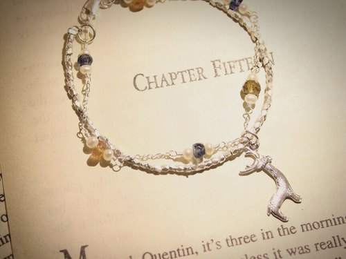 Journal pledge end of the year * Limited (Dear) sterling silver, natural tourmaline, kyanite bracelet bracelet