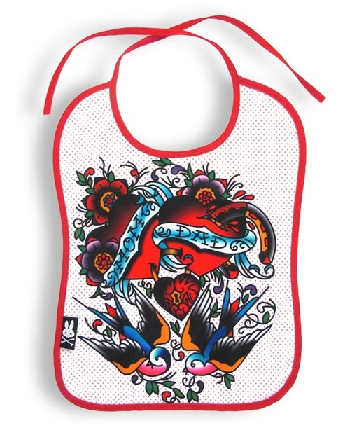 Mommy & amp; Dad & amp; Love - Mommy & amp; Daddy love bibs bibs