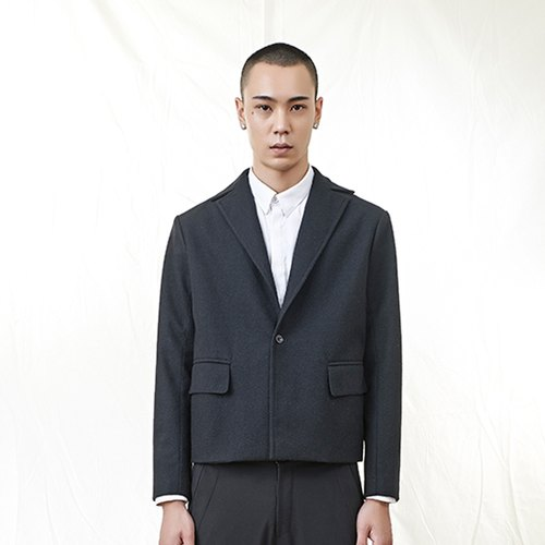 TRAN - wool blazer short board