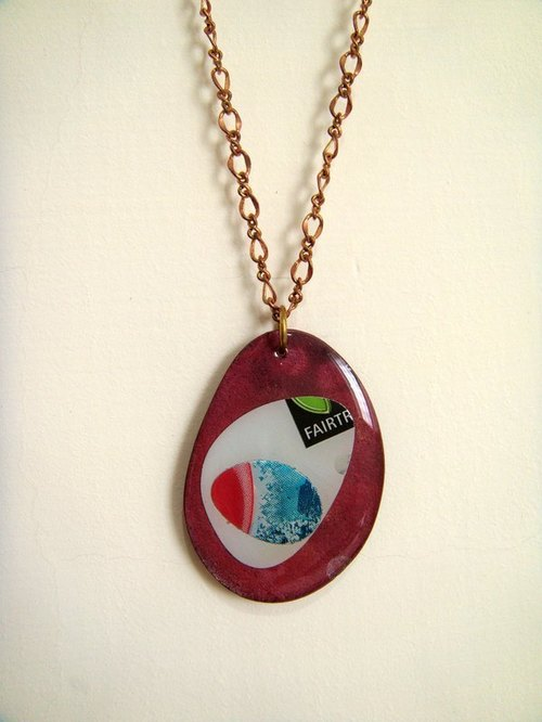 [StUdio] Valentine's Day - copper and aluminum Collage necklace 1