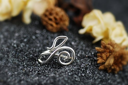 925 Silver Wire Collection - Curve Ring