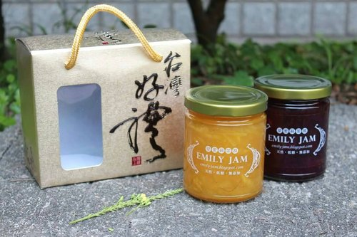 * ╮ ╭ * Emily handmade jam health healthy fresh and delicious. Goodies two into boxes