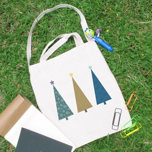Cultural and creative style Christmas tree canvas bag Straight