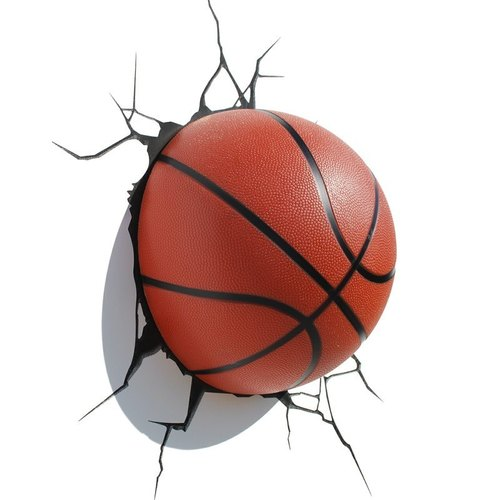 3D modeling wall lamp - Basketball