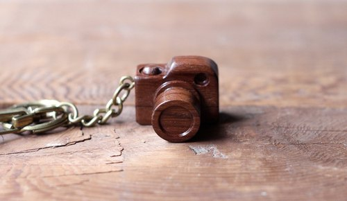 Handmade wooden miniature camera ▣ mini deep nuclear keychain
