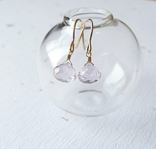 | Touch Moonlight | lavender pink classical natural stone amethyst drop earrings