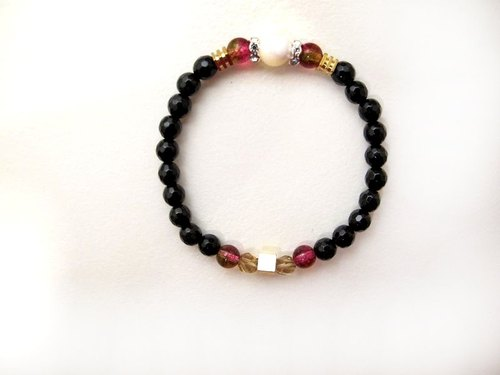 Small combination of zircon and ore ice crystal agate ore bracelet