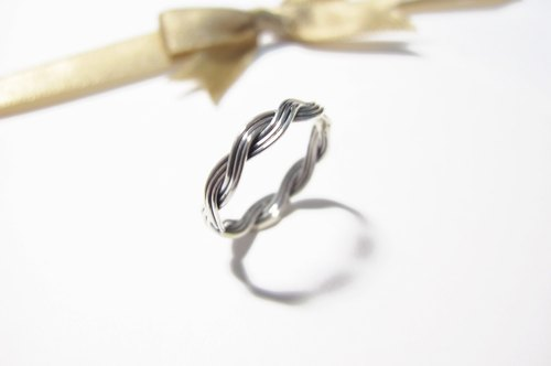 〗 〖M.design the 10th Silver Ring / twist / water ripples stock