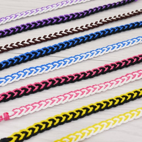 * Poof Fei sugar - hand-woven bracelet lucky foot ring foot rope Surf N (cotton section)