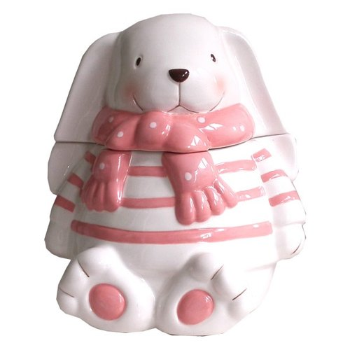[BEAR BOY] long-eared rabbit glove ceramic sugar bowl -M
