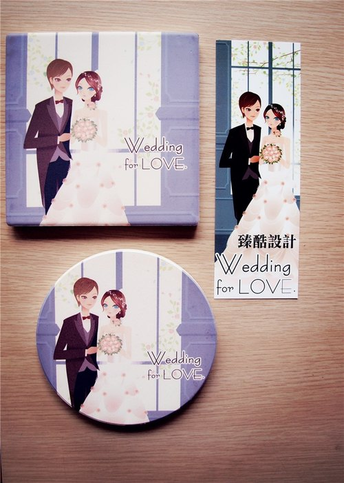 """Wedding for LOVE."" Wedding coasters temperament elegant style ‧ (radius combination)"