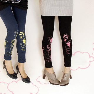 Leggings good meow Shu cotton - kitten hot-air balloon