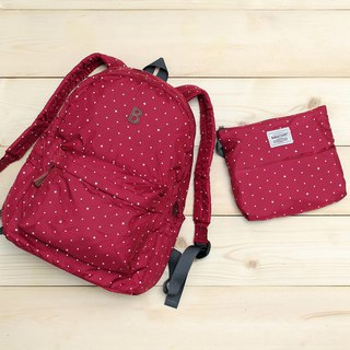 Mildred Backpack(A4 OK)- Dark red _100416-20