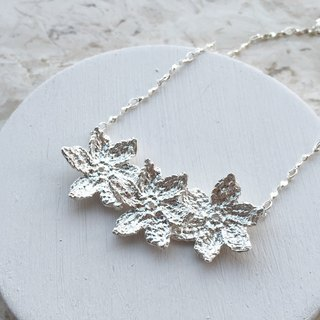 Martin's Secret || Frosty Forest series || || frost forest winter flowers Silver Necklace Necklace