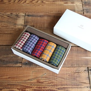 Gem fruit Grille gentleman socks gift box colored group