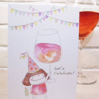 Small mushroom card -Let's Celebrate!