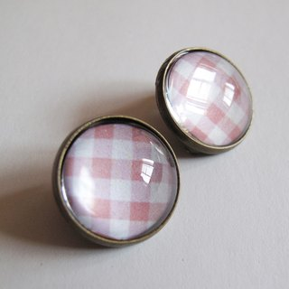 Scottish pattern pink ear clip ear acupuncture
