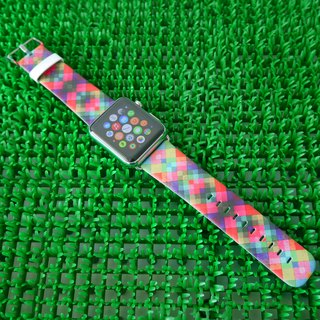 Apple Watch Series 1 , Series 2, Series 3 - Colourful Geometric Pattern Watch Strap Band for Apple Watch / Apple Watch Sport - 38 mm / 42 mm avilable