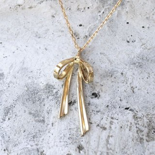 Ribbon Necklace (K18YG)