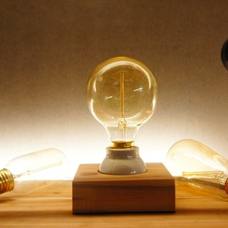 Edison Industrial Japanese fir ceramic lamp holder / exchange gift / free lettering / tungsten night light