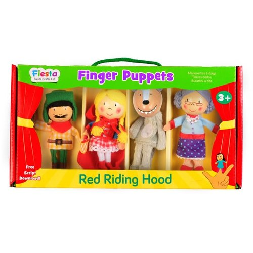 [UK Fiesta moving hands +] Little Red Riding Hood creative play creativity finger even toys (4 groups)