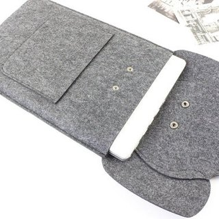 "Original handmade dark gray felt elephant apple computer protective sleeve blanket kit laptop bag Macbook 13 inch computer bag Macbook 13.3 ""Pro Retina (can be tailored) - ZMY038DG13R"