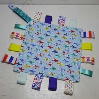 Aircraft lined up double yarn appease towel (light blue)