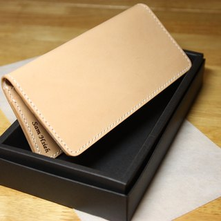 Hands-day month long leather folder simple leather money clip clips free lettering