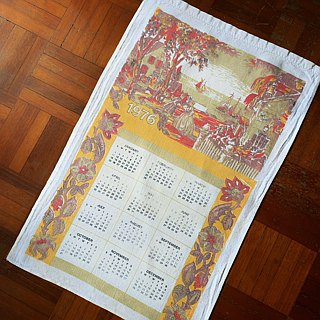 1976 American early cloth calendar, a variety of Bless the house