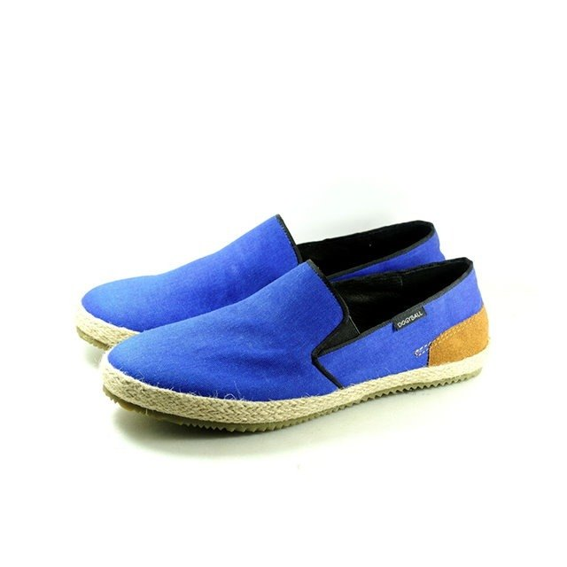 [Dogyball] Simple Taiwan Metropolitan Men's Shoes Natural Straw/Super Soft Waterproof Lazy Canvas Uppers/Soft Q Soles/Natural Rubber Out of Print Special Price Sky Blue