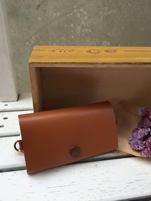 ﹝ Clare ﹞ leather cloth hand-made leather key cases