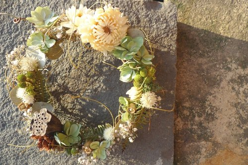 The Secret Garden Dawn _ _ small dried wreath (a decorative wreath, a non-head flowers, floral occasional shortages due, finished with the picture is not 100% identical, will be replaced by the equivalent of approximately floral)