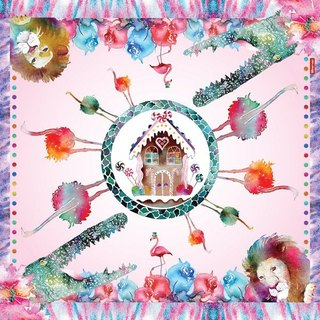 Clear texture Candy House square scarf