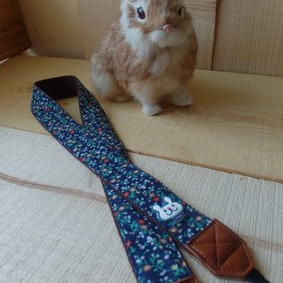 HiDots together to travel the camera strap (blue floral * rabbit)