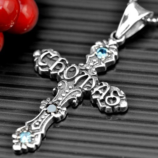 Customized .925 sterling silver cross pendant jewelry PC00002-