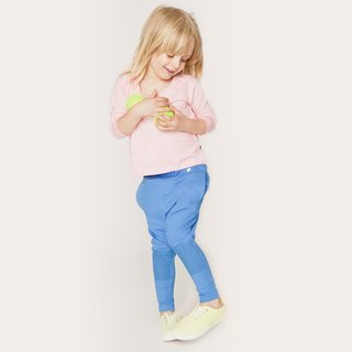 Nordic organic cotton children's street pants blue