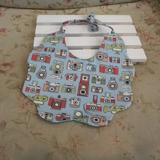 Retro camera twists baby bibs