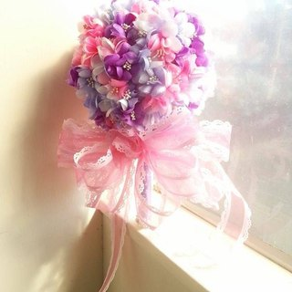 [Wedding] successful flower bouquet - wealthy tricolor (purple + purple + light pink)